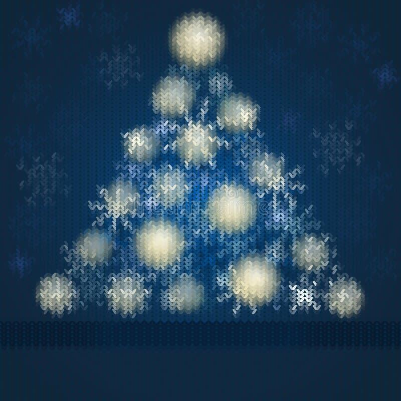 Naadloos gebreid Kerstmispatroon royalty-vrije illustratie