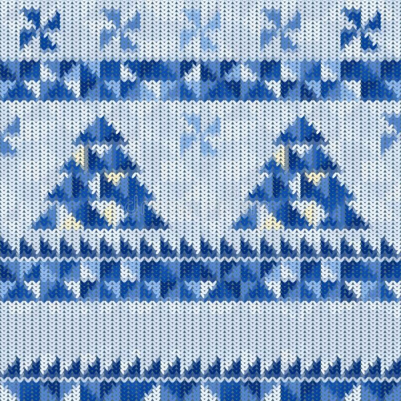 Naadloos gebreid Kerstmispatroon vector illustratie