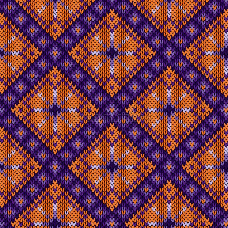Naadloos gebreid patroon vector illustratie