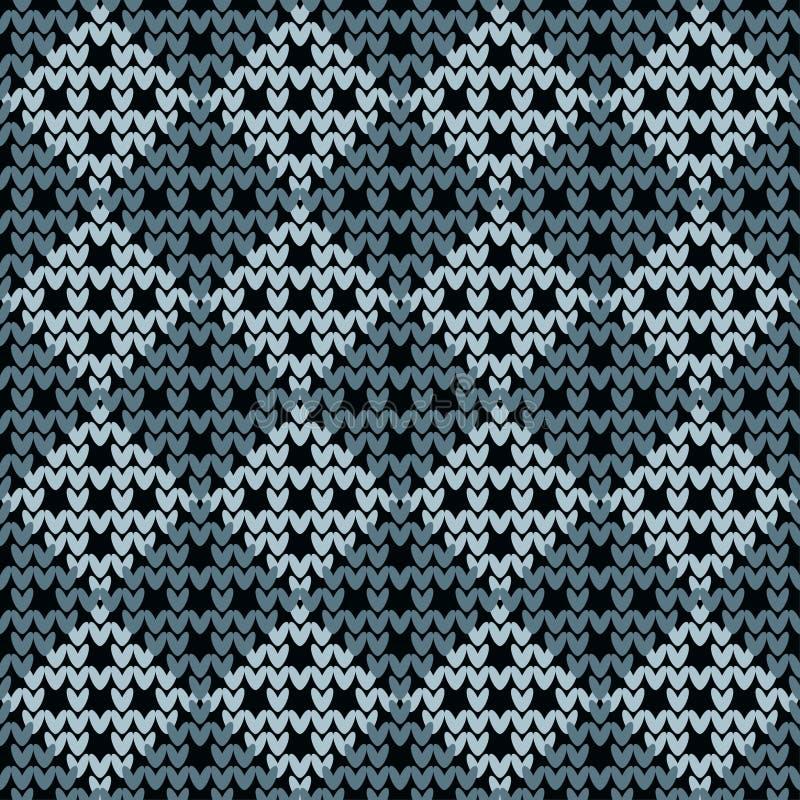 Naadloos gebreid patroon Een warme sweater af:drukken Doekontwerp, behang royalty-vrije illustratie