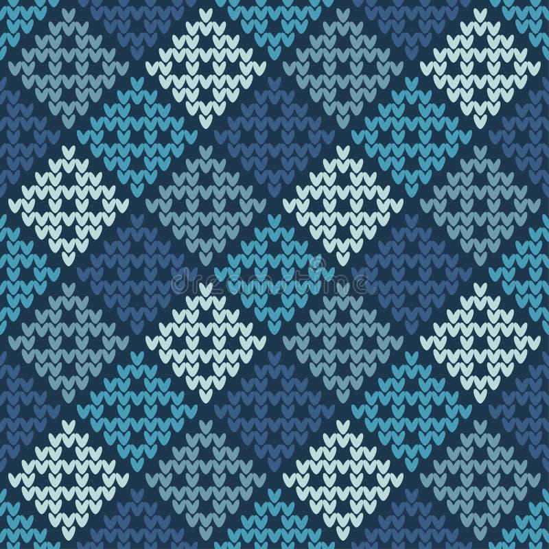 Naadloos gebreid patroon Een warme sweater af:drukken Doekontwerp, behang stock illustratie