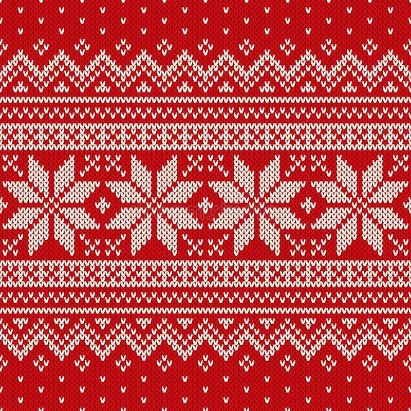 Naadloos gebreid patroon Het Ontwerp van de wolsweater vector illustratie