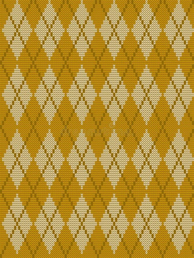 Naadloos gebreid patroon met ruiten stock illustratie