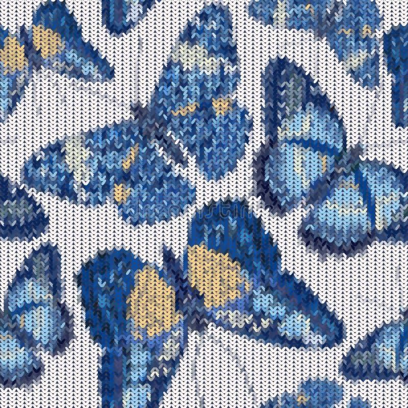 Naadloos gebreid vlinderspatroon stock illustratie