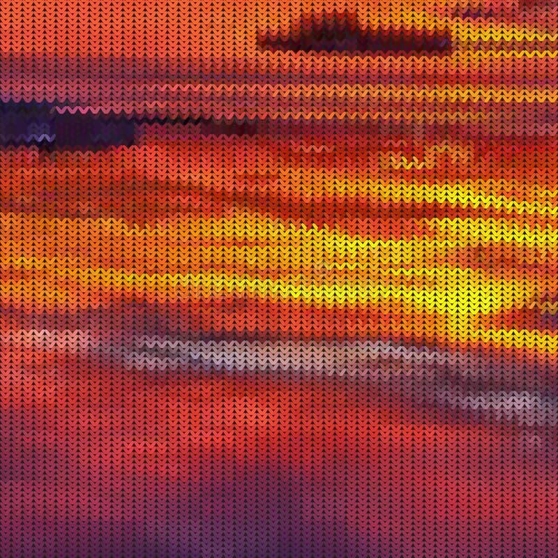 Naadloos gebreid zonsondergangpatroon vector illustratie