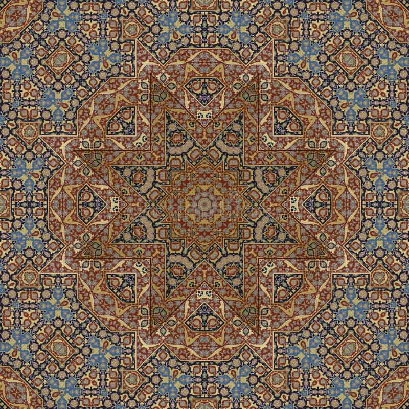Naadloos gekleurd metaal arabesque 001 royalty-vrije stock afbeelding