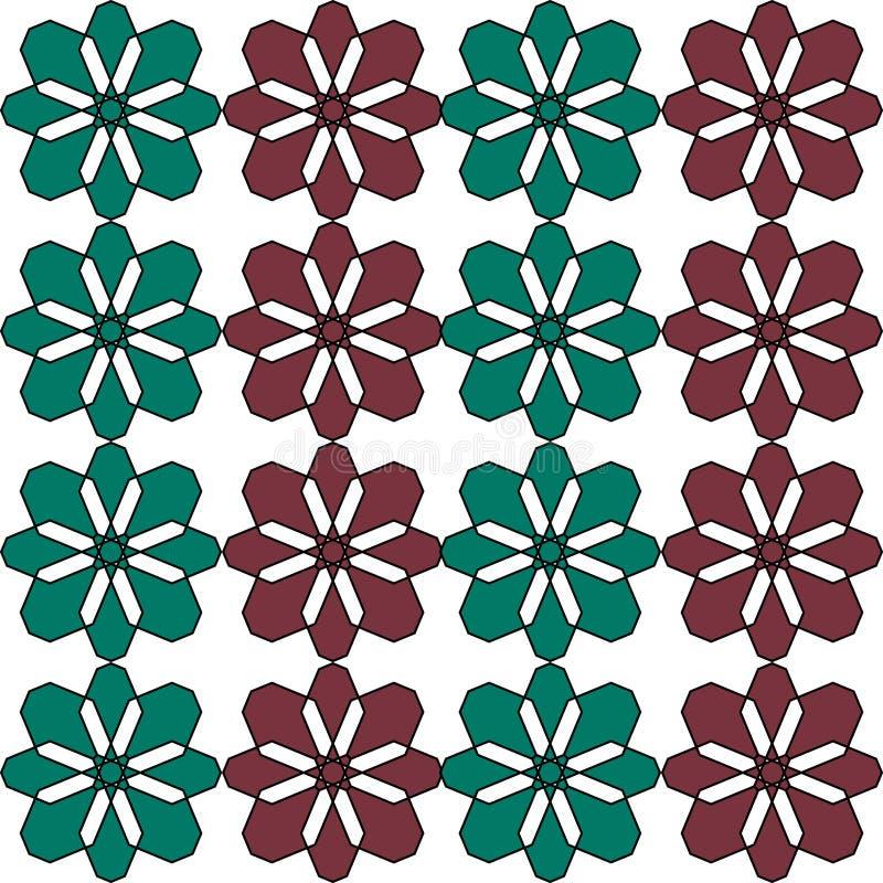 Naadloos geometrisch Afrikaans Arabisch Aziatisch oosters vectorpatroon kleurrijk uitstekend retro abstract art. als achtergrond stock illustratie