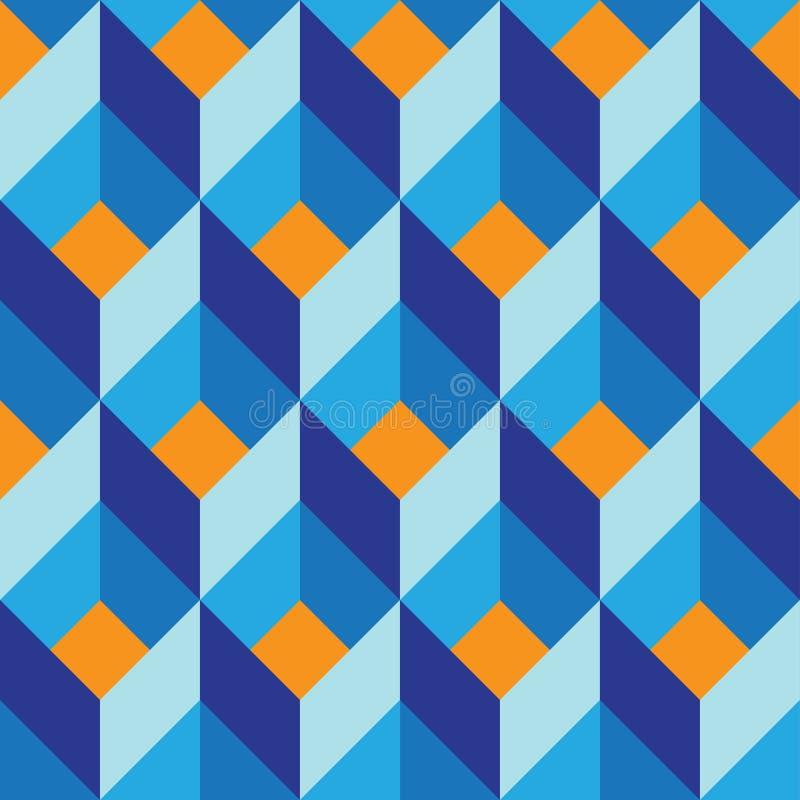 Naadloos geometrisch kleurrijk vector vlak patroon royalty-vrije illustratie