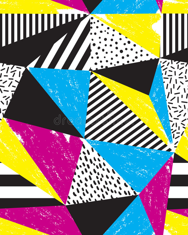 Naadloos geometrisch krabbelpatroon vector illustratie