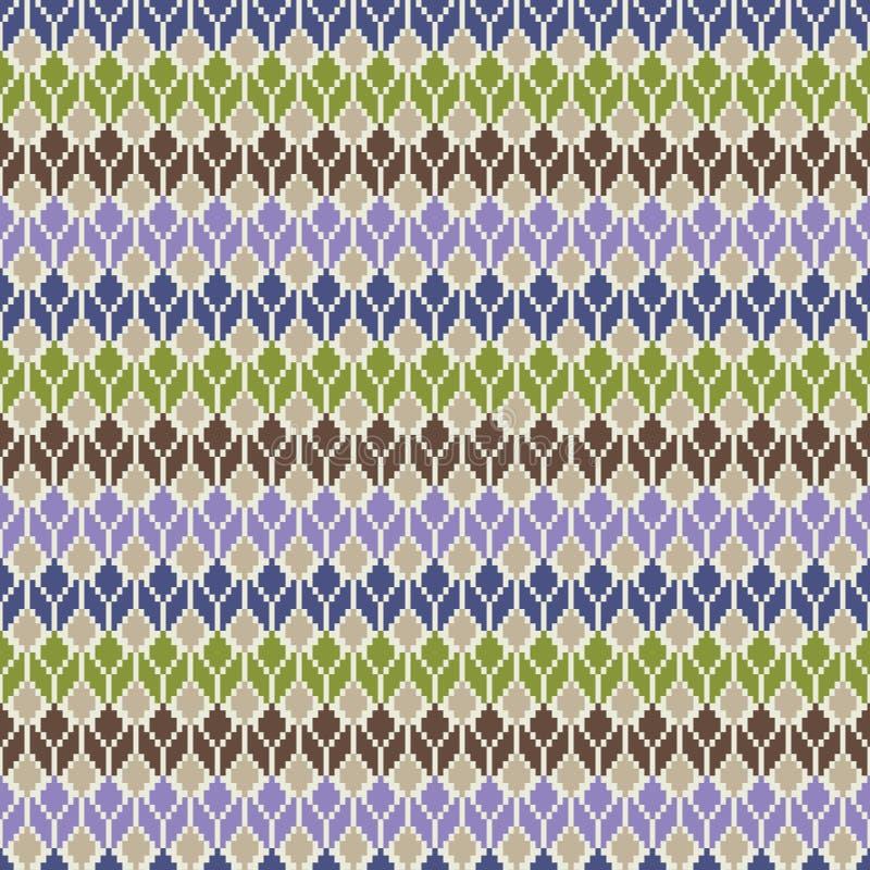 Naadloos geometrisch multicolored inheems patroon stock illustratie