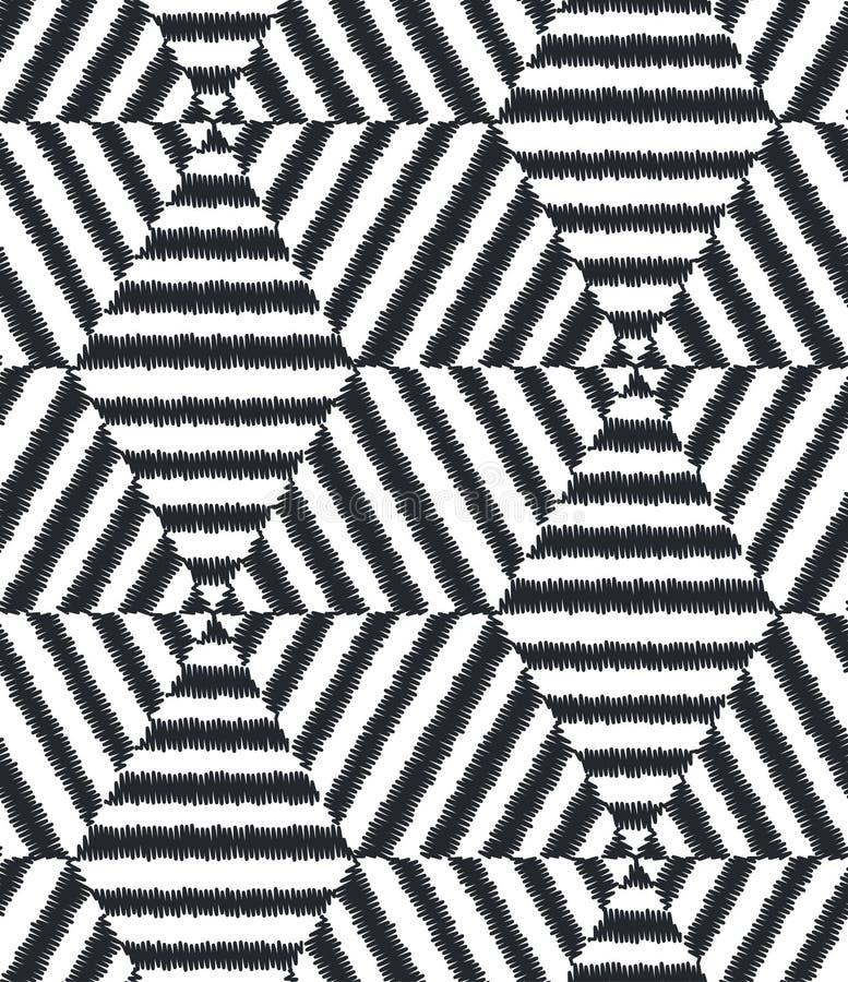 Naadloos geometrisch netwerk geweven patroon royalty-vrije illustratie