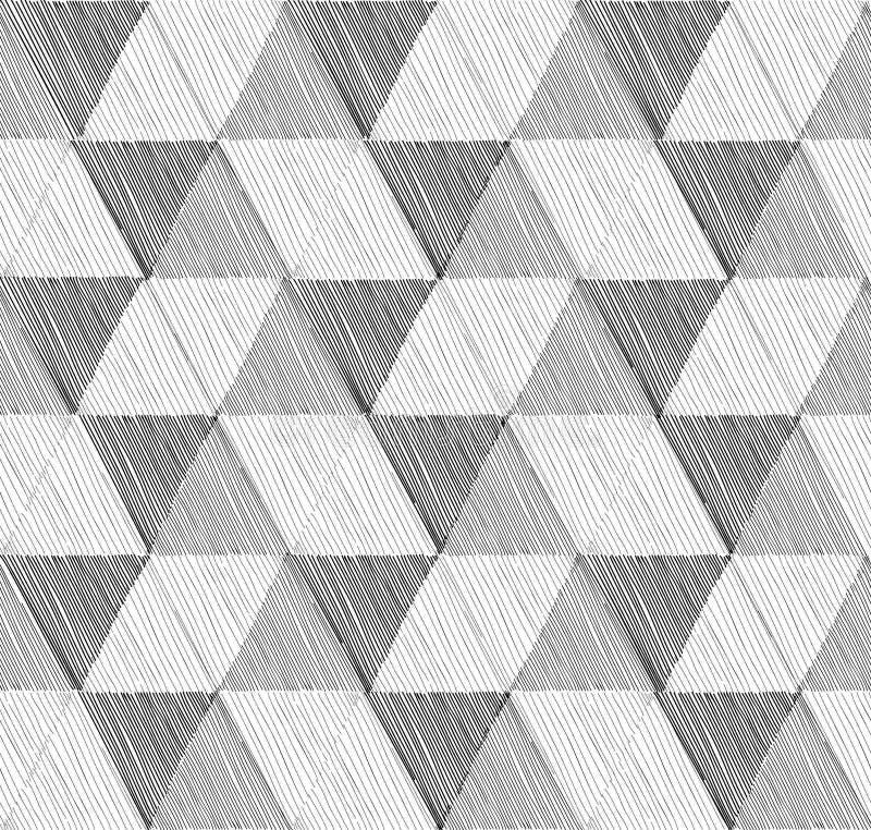Naadloos Geometrisch Patroon Abstracte vector geweven achtergrond