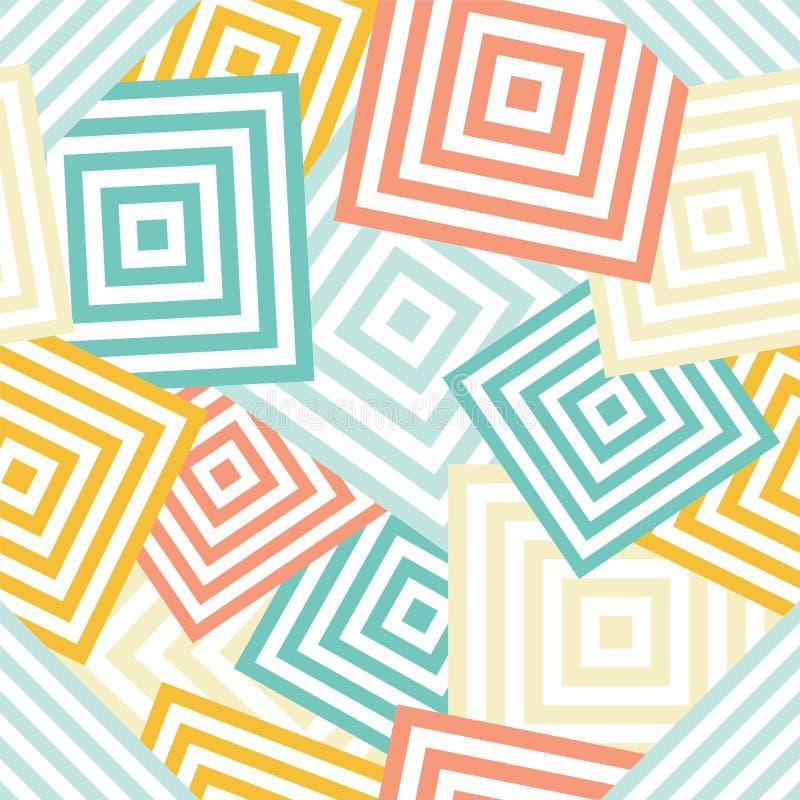 Naadloos geometrisch patroon - chaotische rombus & x28; squares& x29; stock illustratie