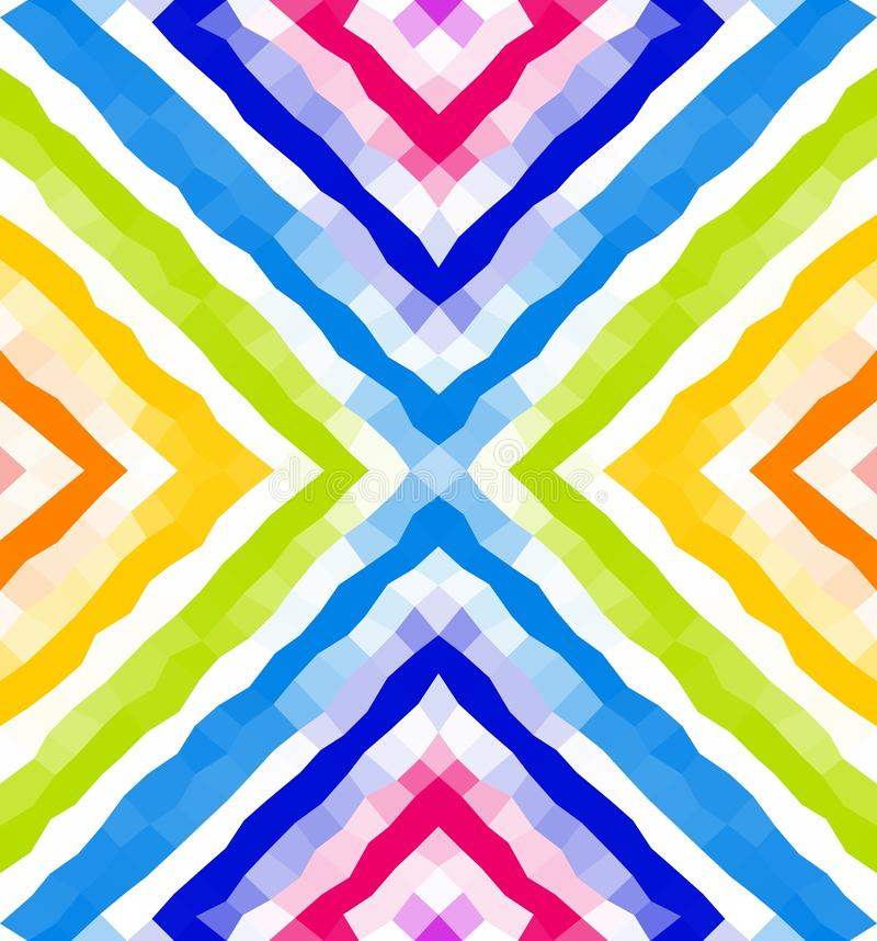 Naadloos Geometrisch Patroon Kleurrijke veelhoekige mozaïekachtergrond behang royalty-vrije illustratie