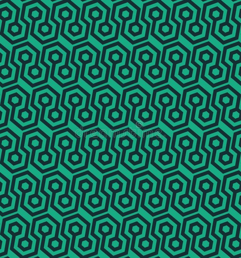 Naadloos geometrisch patroon met hexagonale vormen - vectoreps8 stock illustratie