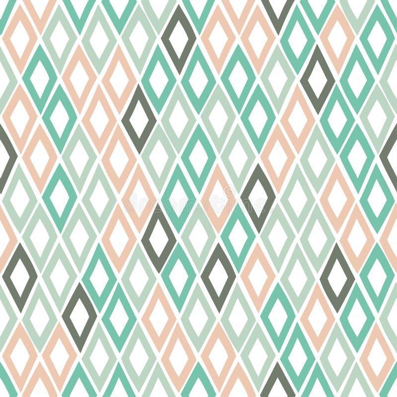 Naadloos geometrisch patroon met ruiten in een hand-drawn stijl Vector Malplaatje stock illustratie