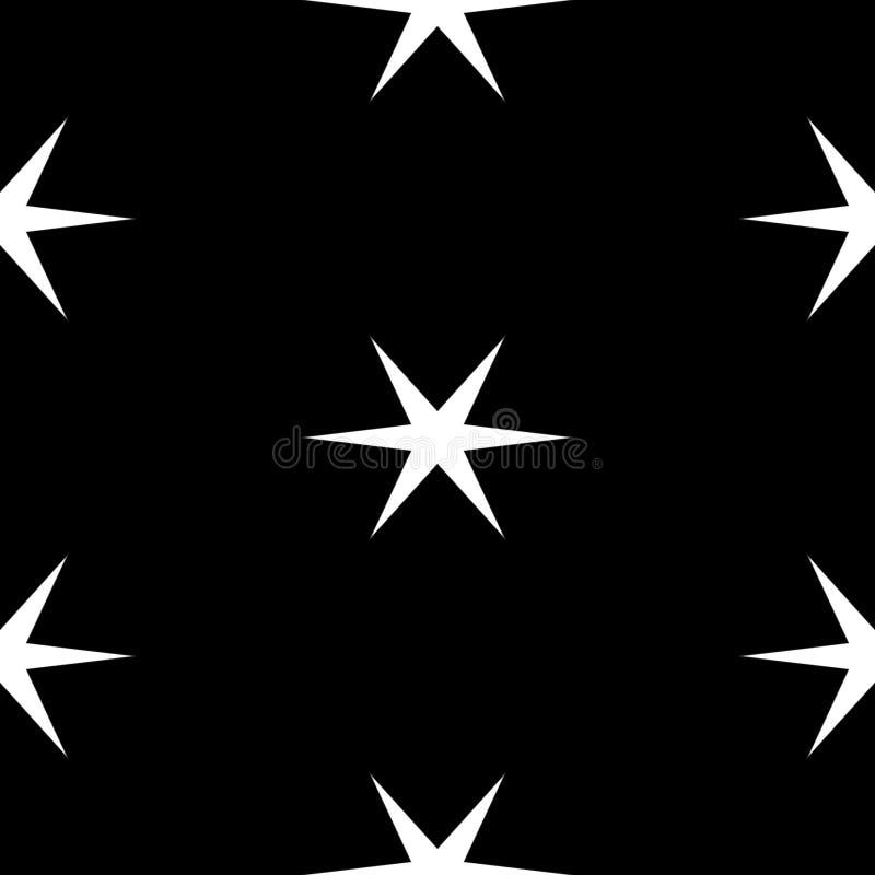 Naadloos geometrisch patroon met sterren over witte achtergrond royalty-vrije illustratie