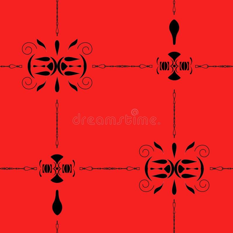 Naadloos geometrisch patroon op rode achtergrond vector illustratie