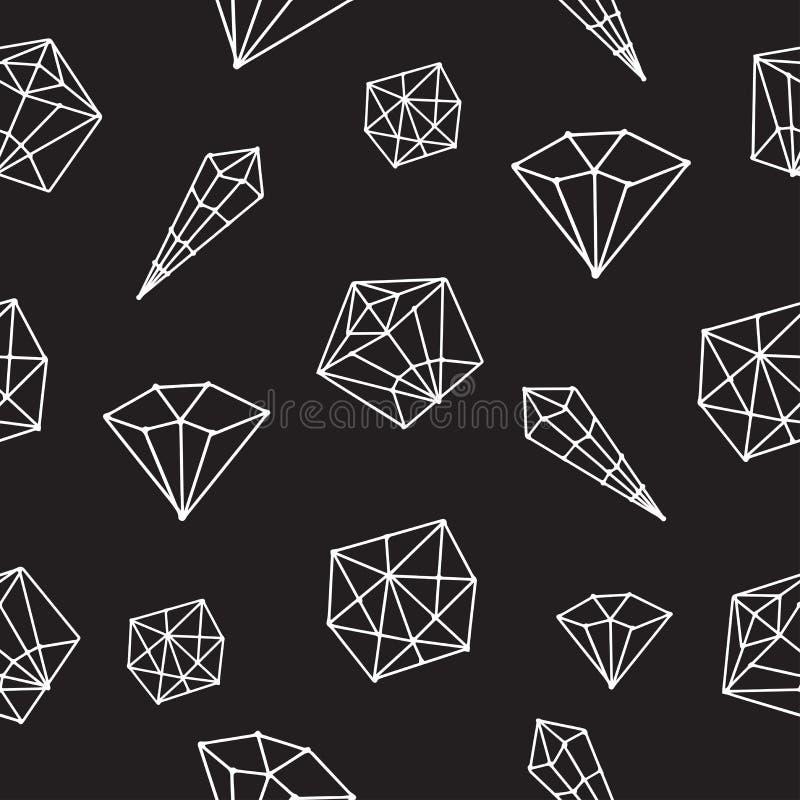 Naadloos geometrisch patroon vectorkristal