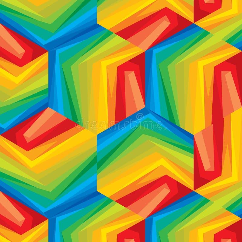 Naadloos geometrisch patroon in veelkleurig royalty-vrije illustratie