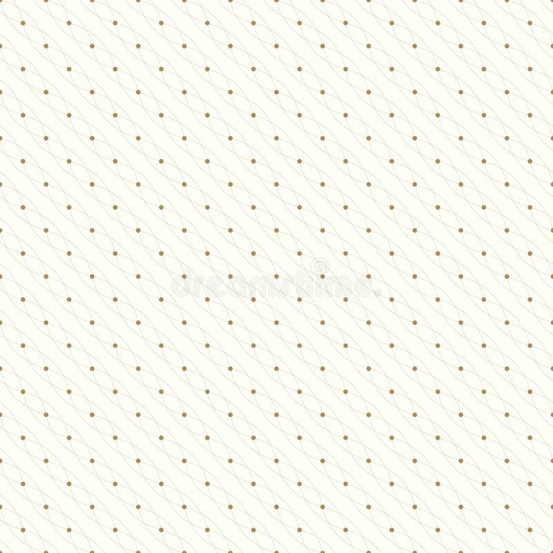 Naadloos Geometrisch Patroon Verbonden lijnen met punten Vector illustratie vector illustratie