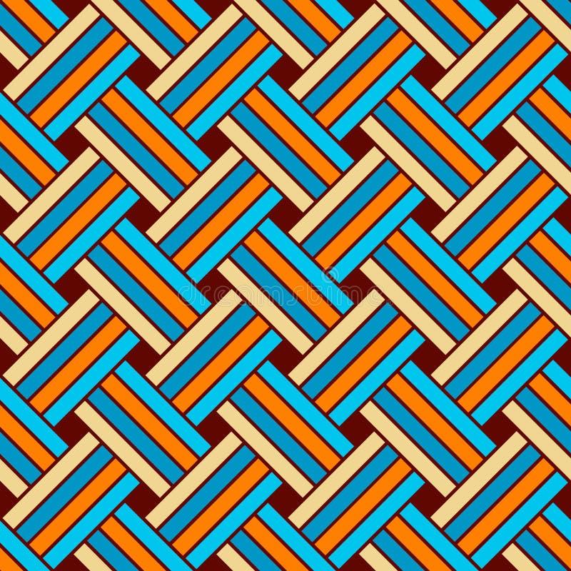 Naadloos Geometrisch VectorPatroon vector illustratie
