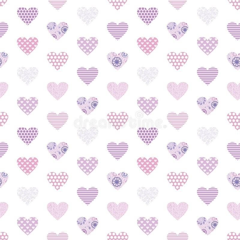 Naadloos geometrisch vectorpatroon met harten royalty-vrije stock foto's