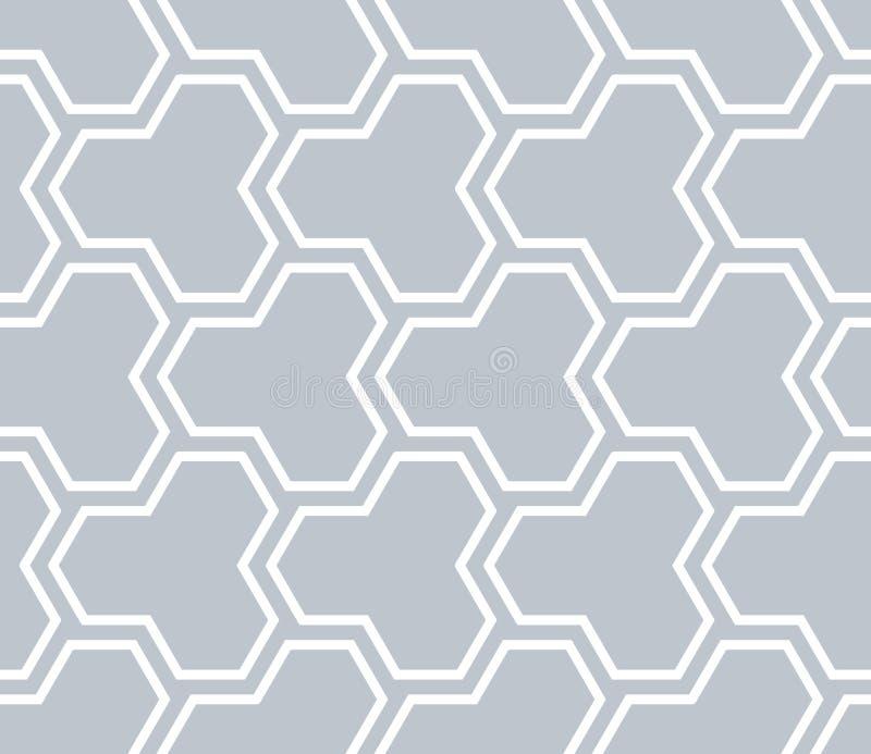 Naadloos geometrisch veelhoekig patroon stock illustratie