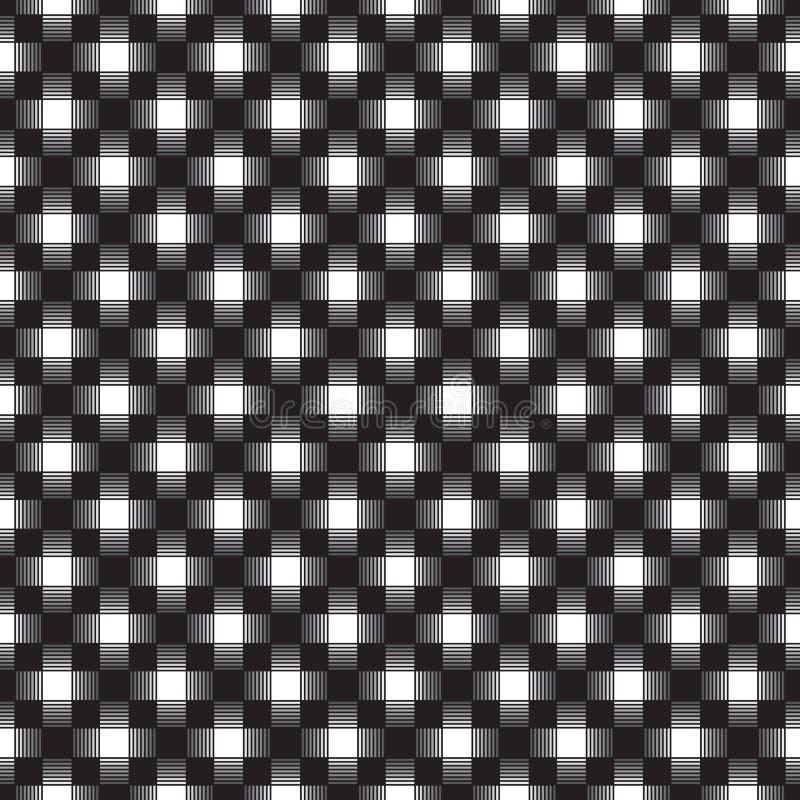 Naadloos geometrisch verweven controlepatroon stock illustratie