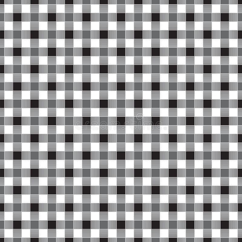 Naadloos geometrisch verweven controlepatroon vector illustratie