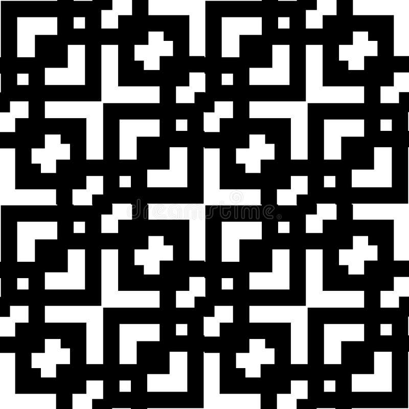 Naadloos geometrisch zwart-wit patroon met lijnen Witte en zwarte textuur Grafische moderne backgroung vector illustratie