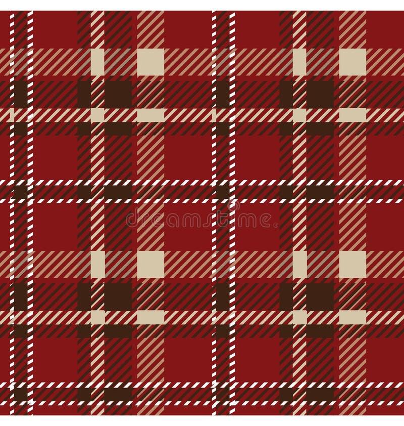 Naadloos geruite Schotse wollen stofpatroon vector illustratie