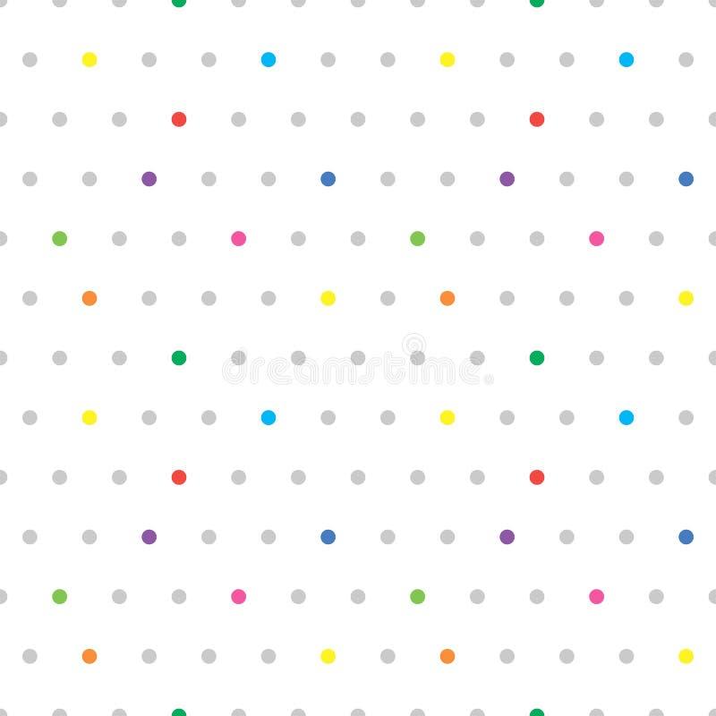 Naadloos gestippeld patroon Leuke kleurrijke stipachtergrond Abstracte textuur met punten Eenvoudig minimalistic grafisch ontwerp vector illustratie