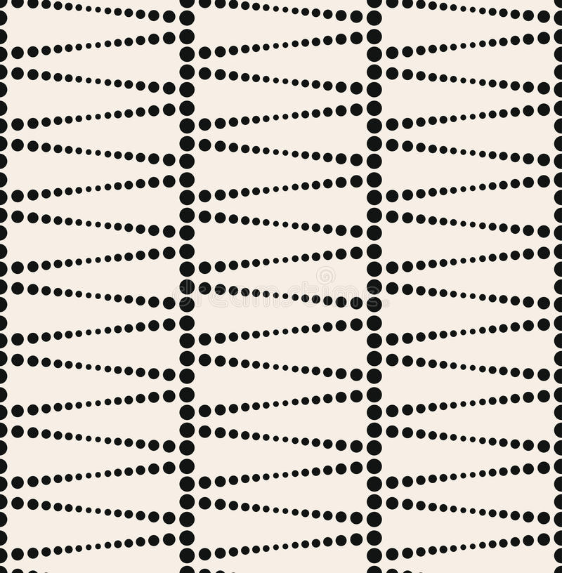 Naadloos geweven het behangpatroon van cirkelpunten stock illustratie