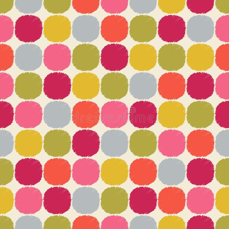 Naadloos geweven het behangpatroon van cirkelpunten vector illustratie