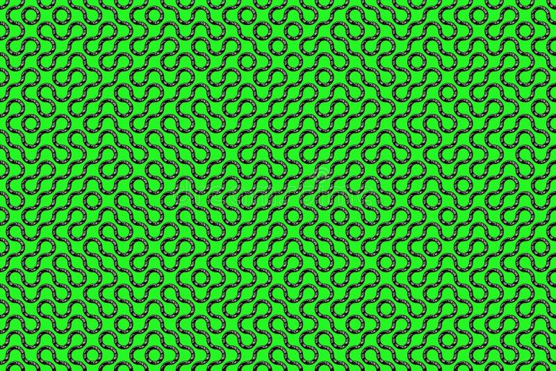 Naadloos geweven labyrint vector illustratie