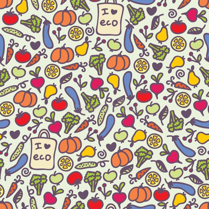 Naadloos gezond voedselpatroon. royalty-vrije illustratie