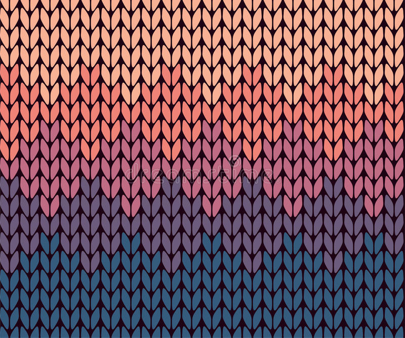 Naadloos gradiënt gebreid patroon stock illustratie