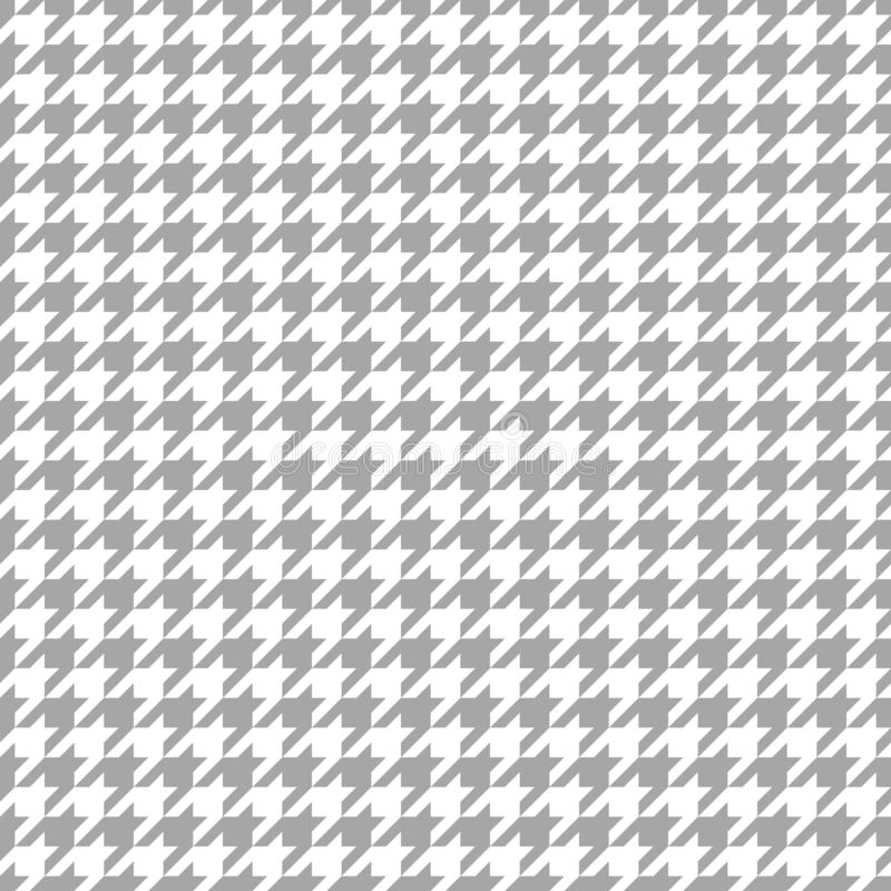 Naadloos Grafisch Houndstooth-Patroon Gray And White vector illustratie