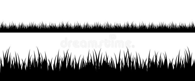 Naadloos grassilhouet royalty-vrije illustratie