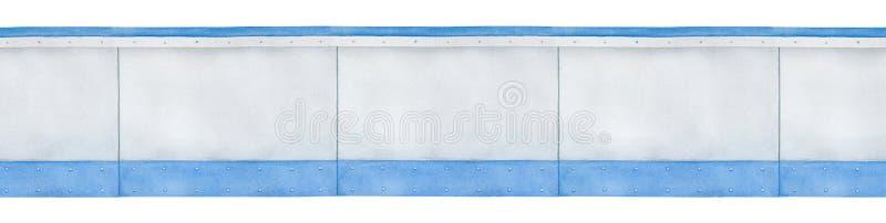 Naadloos grenspatroon van lege grijze panelen stock illustratie
