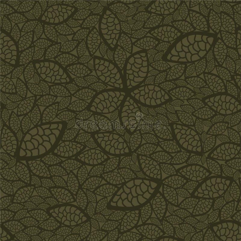 Naadloos groen bladerenbehang royalty-vrije illustratie
