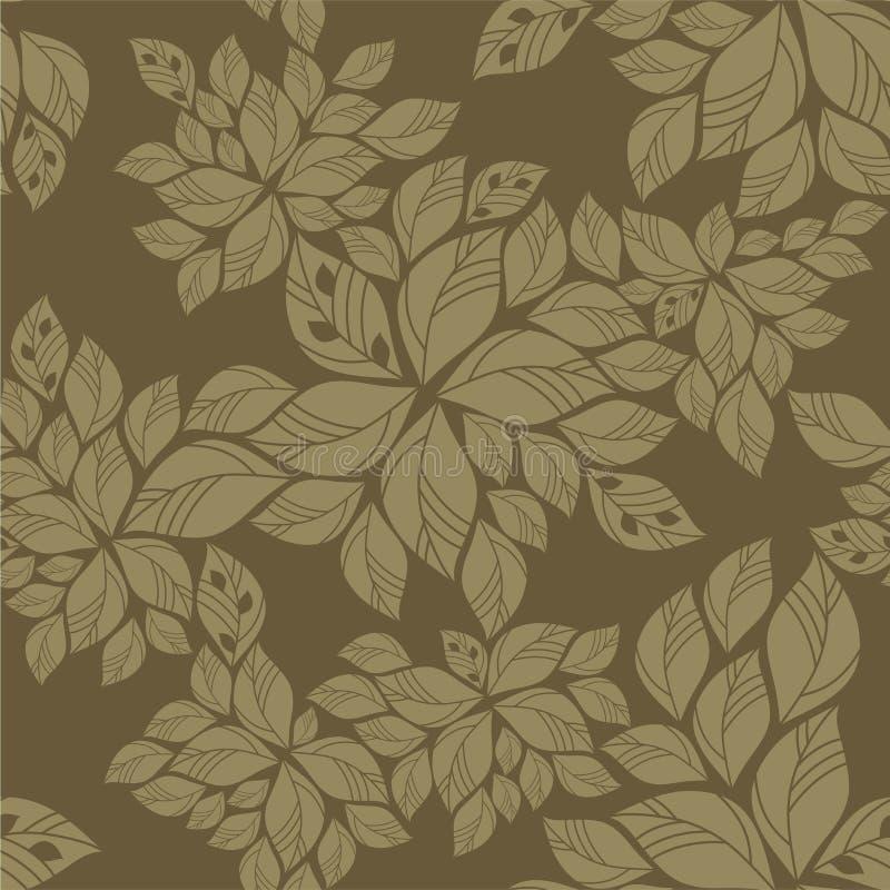Naadloos groen bladerenpatroon