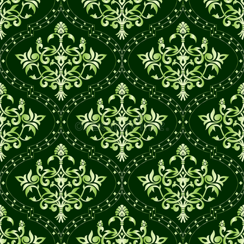 Naadloos groen bloemenpatroon vector illustratie