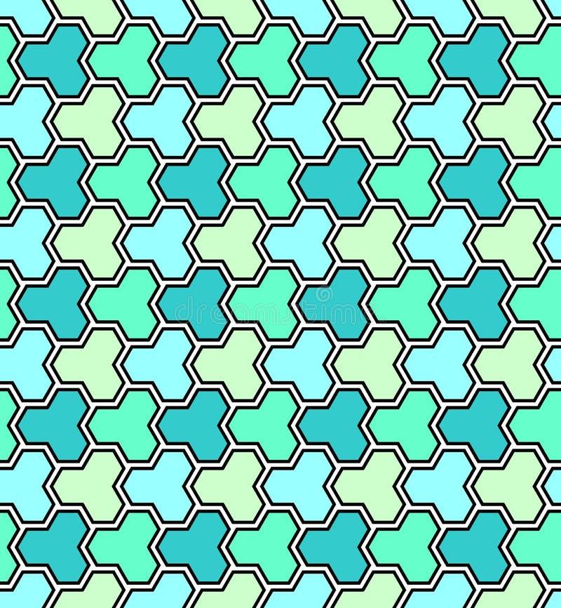 Naadloos groen mozaïek veelhoekig patroon royalty-vrije illustratie