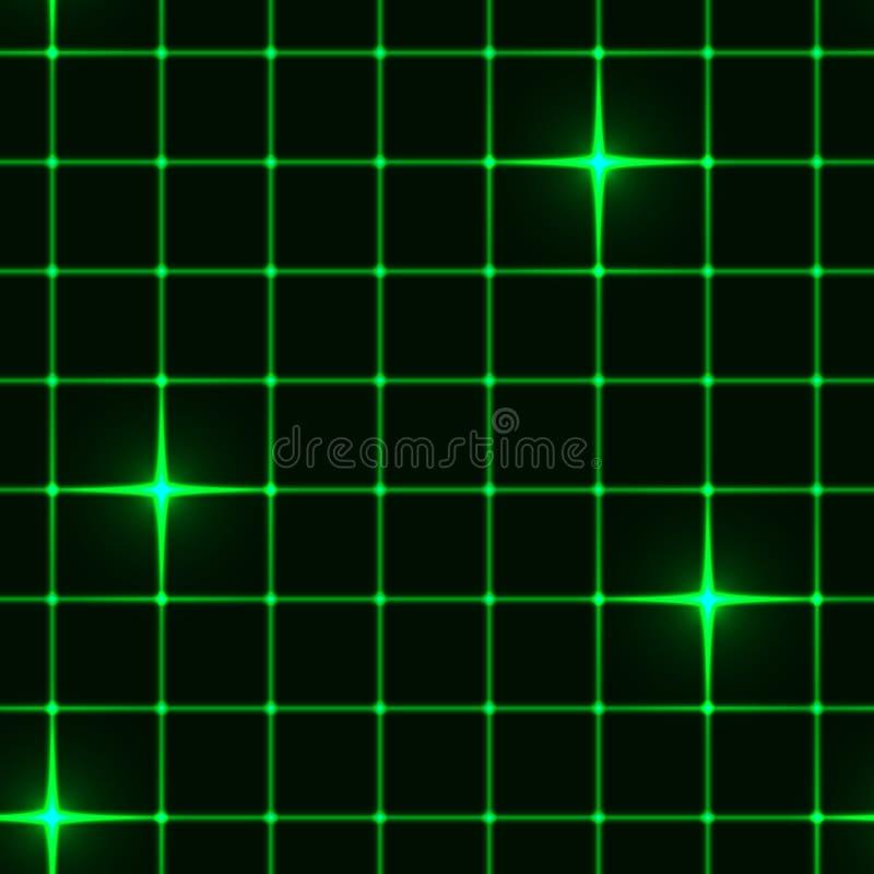Naadloos groen net met sterren vector illustratie