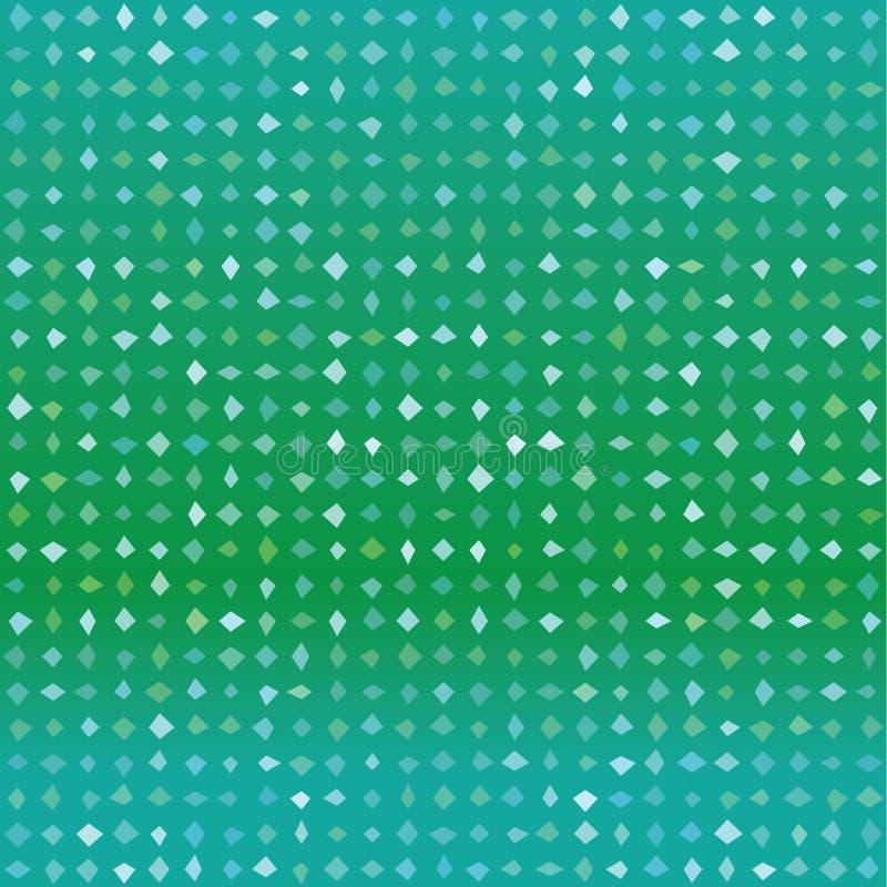 Naadloos groen vectorpatroon met willekeurige vormen stock illustratie