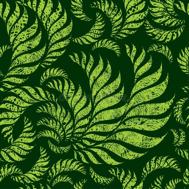 Naadloos grunge bloemenpatroon vector illustratie
