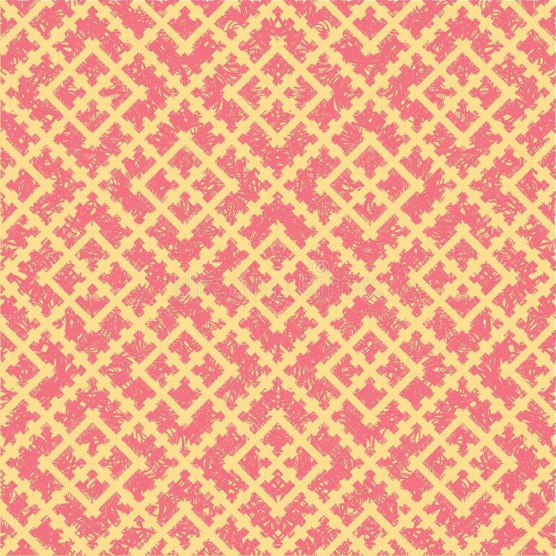 Naadloos grunge Russisch rood patroon vector illustratie