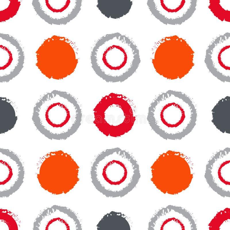 Naadloos grungy patroon met stippen stock illustratie